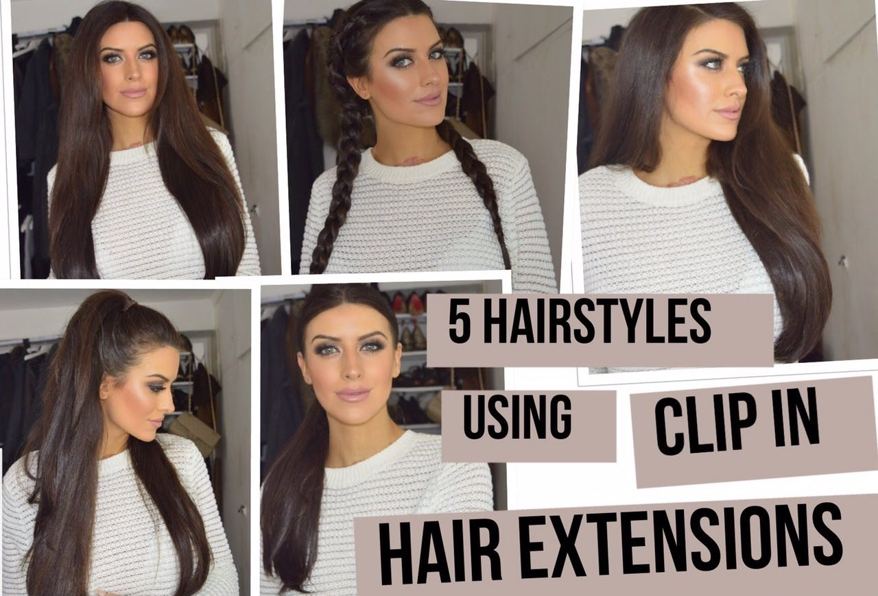 5 hairstyles using clip in extensions! using lullabellz super thick