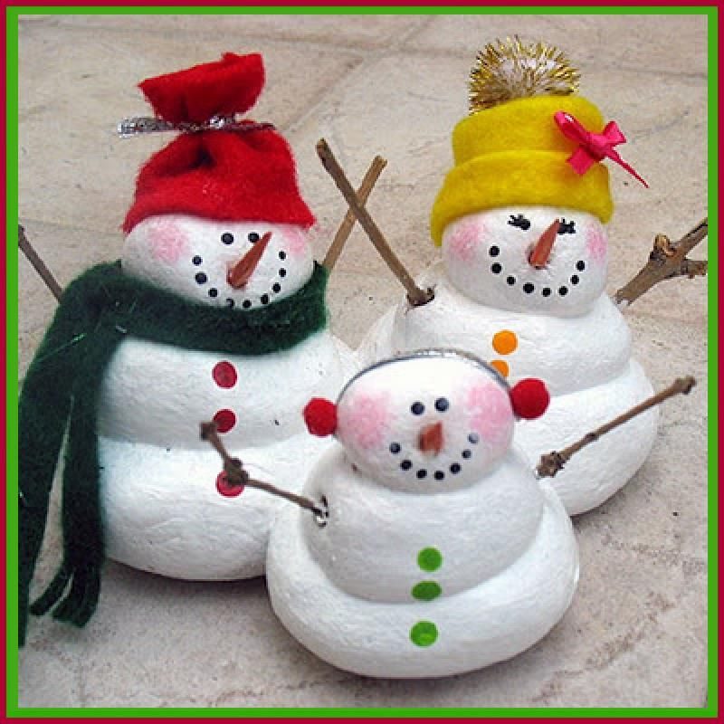 Dollar Store Crafter \u2014 Turn Salt Dough Into These Cute Snow People