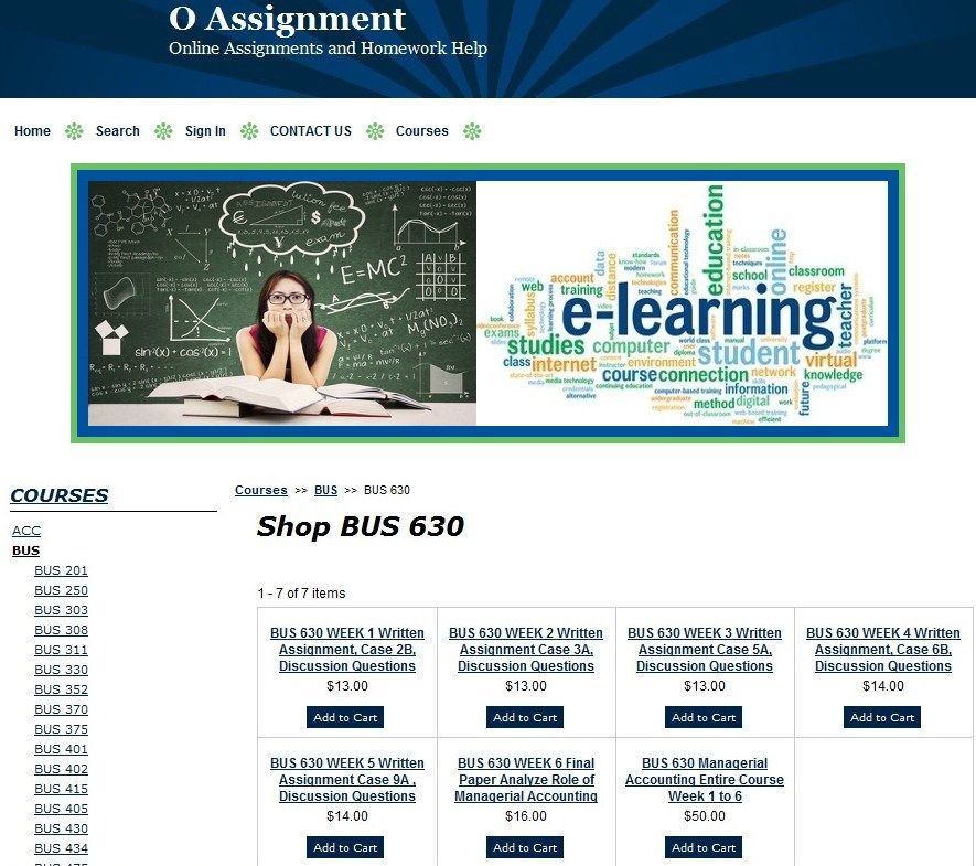 BUS 630 Managerial Accounting Entire Course Week 1 to 6