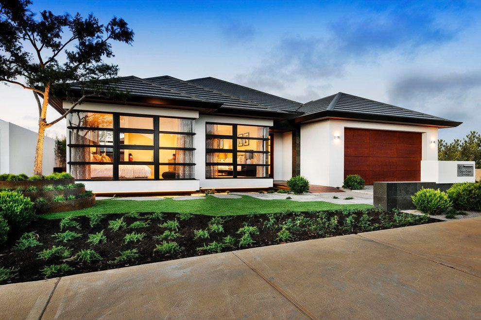 Facciate ed esterni di case moderne dal design asiatico for Architettura ville moderne