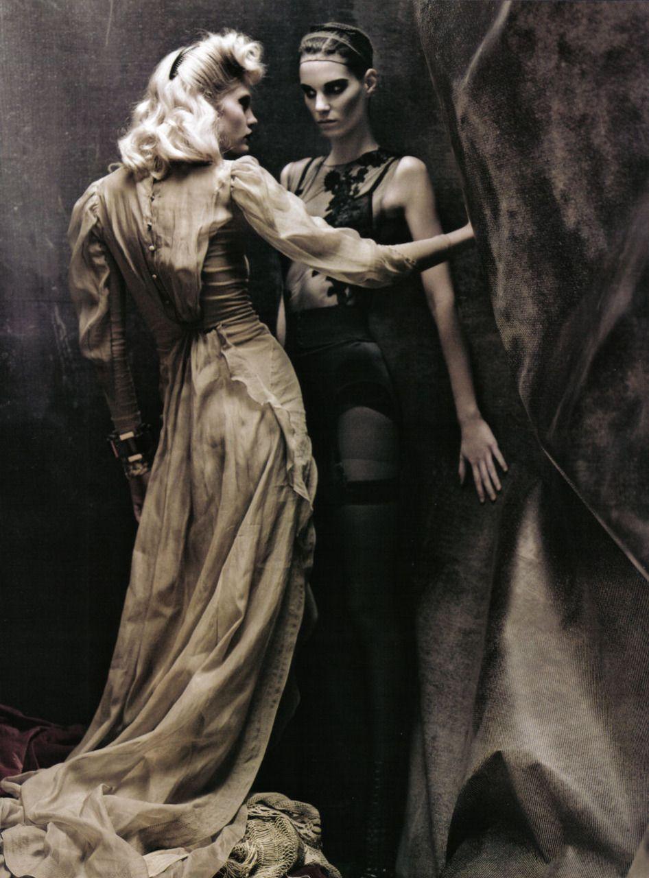 """In A Poetic Mood"": Heidi Mount and Iris Strubegger for Vogue Italia, April 2009"