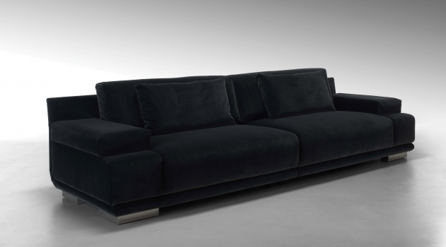 luxury modern living room decorating showing black velvet | Living Room Decor with a Black Velvet Sofa | Room Decor ...
