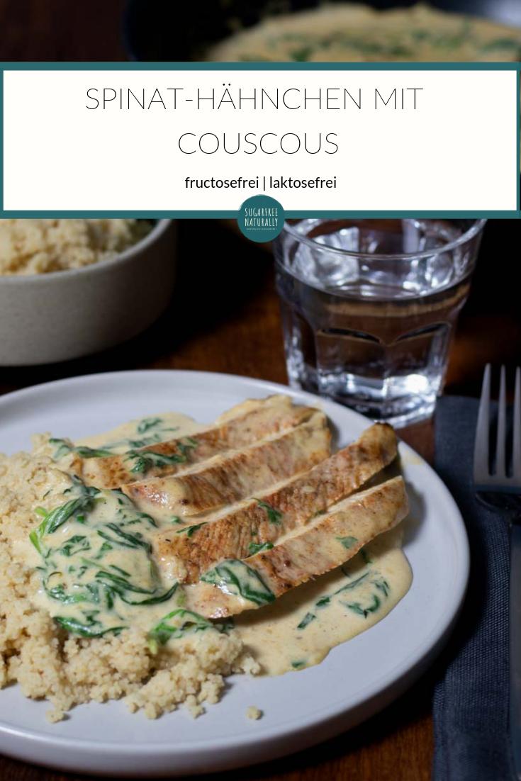 Spinat-Hähnchen mit Couscous
