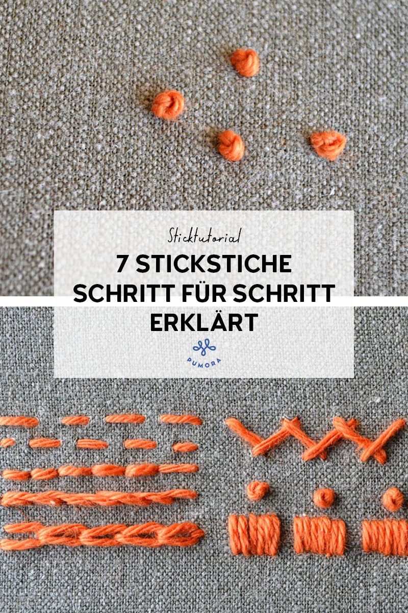 Photo of Stickstiche Schritt für Schritt vertra – 7 Sticktutorials – Pumora