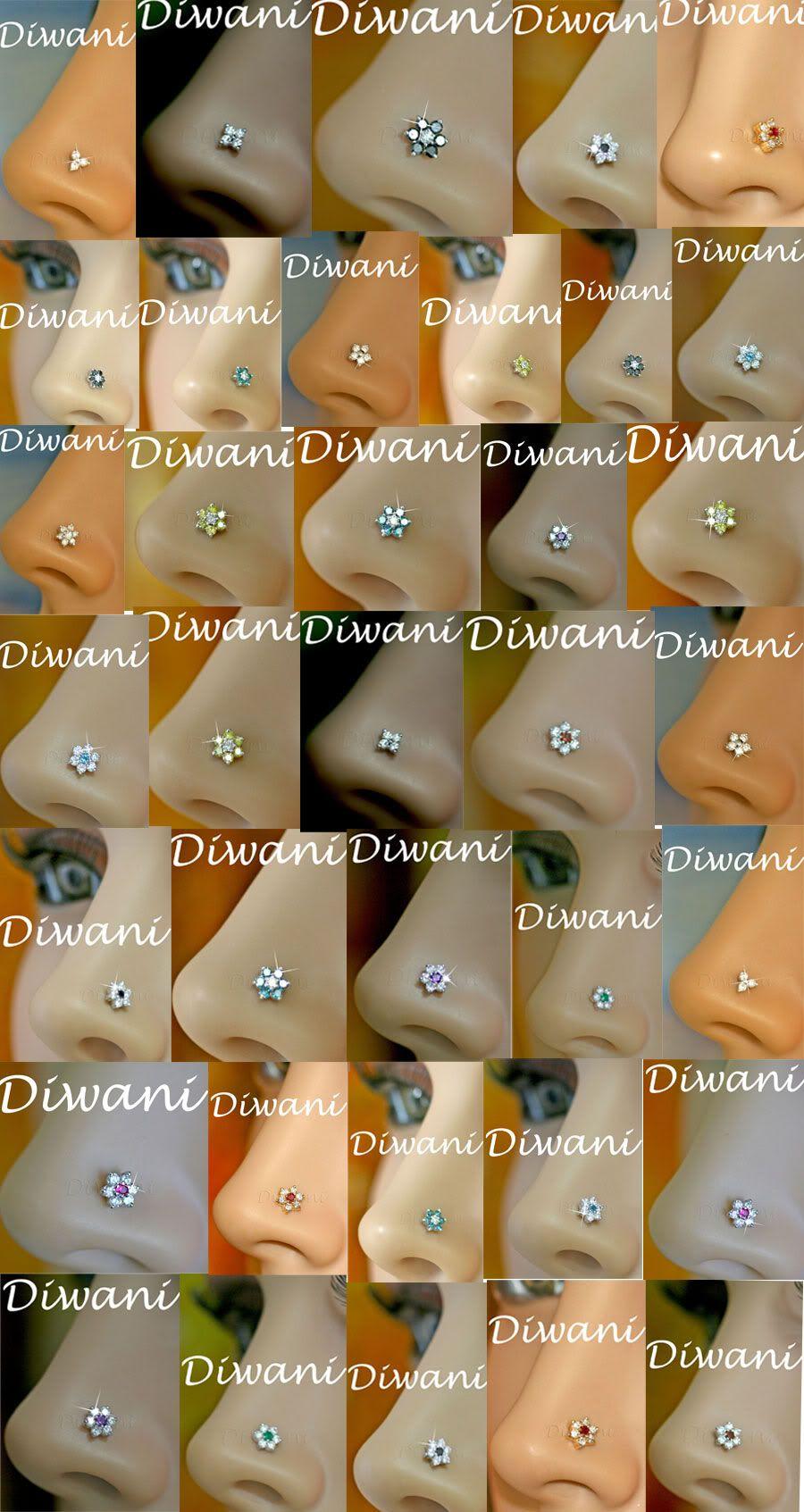 Piercing nose diamond  Diwani Diamond Jewellery Real Natural Diamonds u Precious u Semi