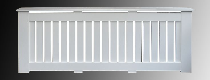 Kingston Radiator Cover With White Slatted Grille Front View From Design Co