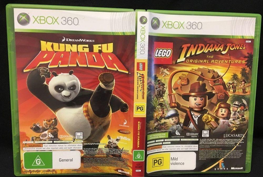Xbox 360 2 Game Pack Lego Indiana Jones Original Adventures And
