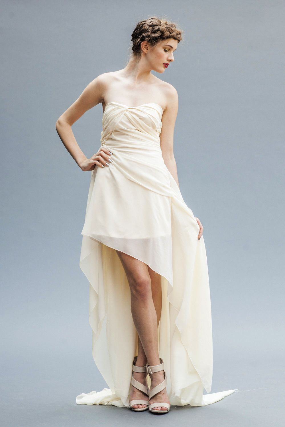 Athena | Chiffon wedding gowns, Elegant bride and Gowns