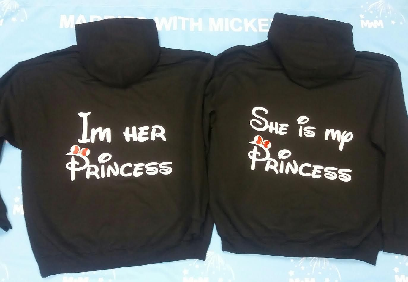 ca24157b7 LGBT Lesbians She's Mine Her Princess With Mickey's Hands and Date ...