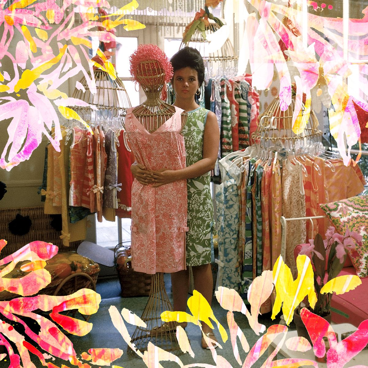lilly pulitzer in her first shop in via mizner on worth avenue in