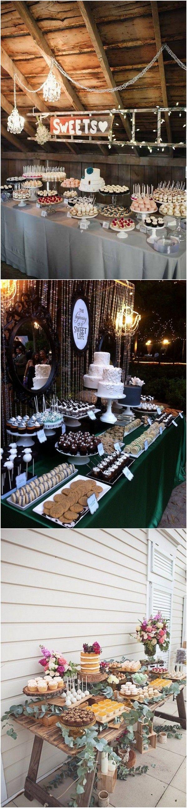 Barn wedding table settings   Country Rustic Wedding Dessert Table Ideas  Rustic wedding