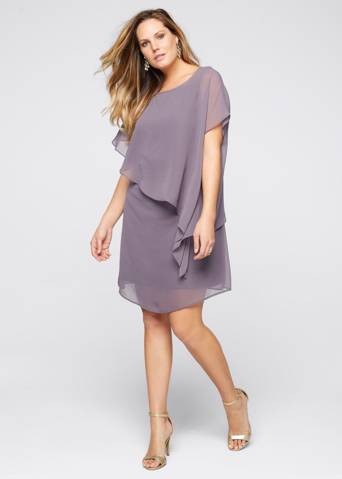 Оригинальное платье с асимметричной отлетной верхней деталью