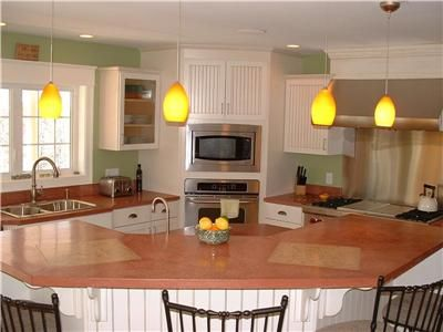 Custom Concrete Countertop Right In Line With Traditional Color Palette.  Stonecraft Inc Gorham, ME
