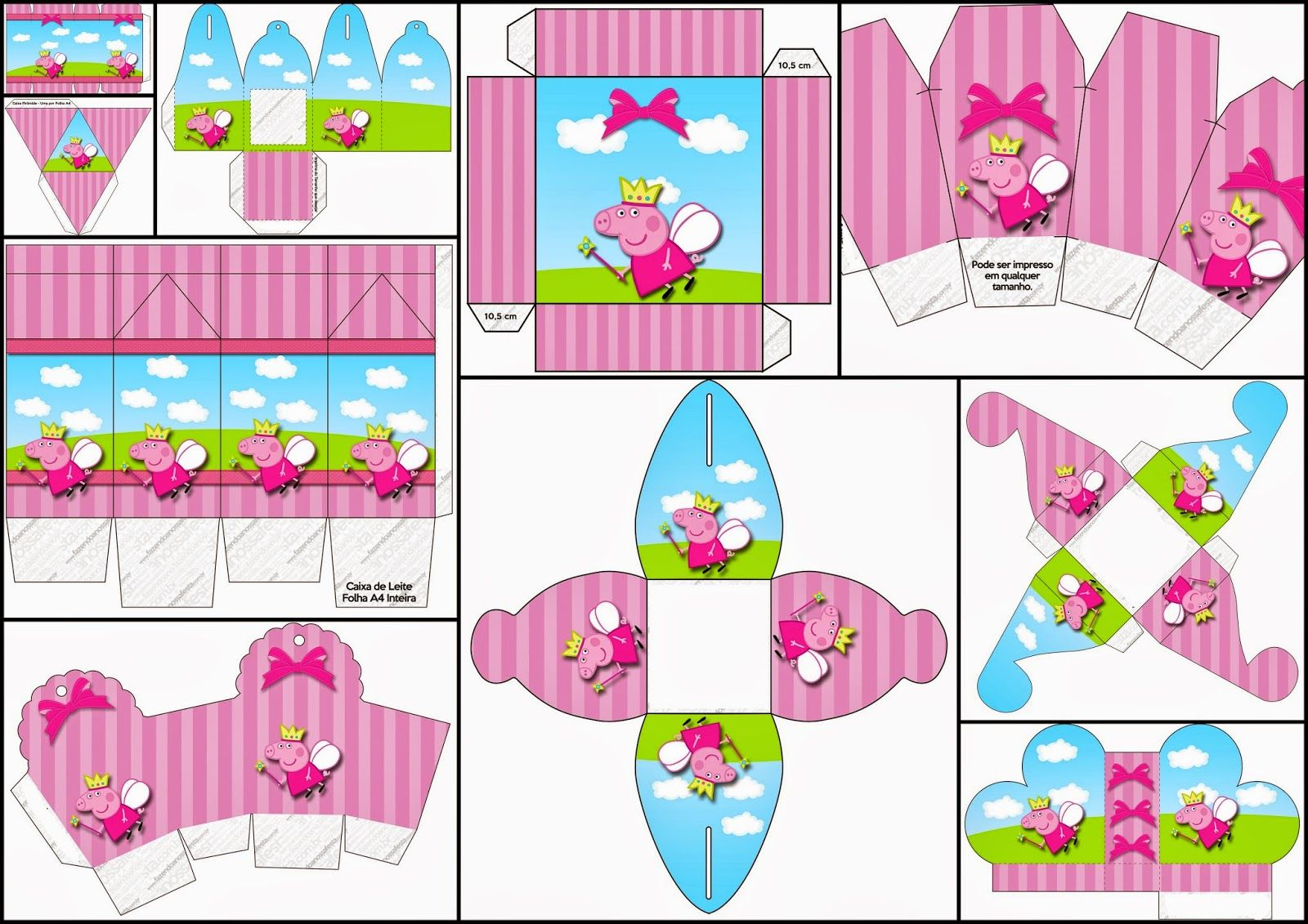 Peppa Pig Fairy: Free Printable Boxes. | Birthday! | Pinterest ...