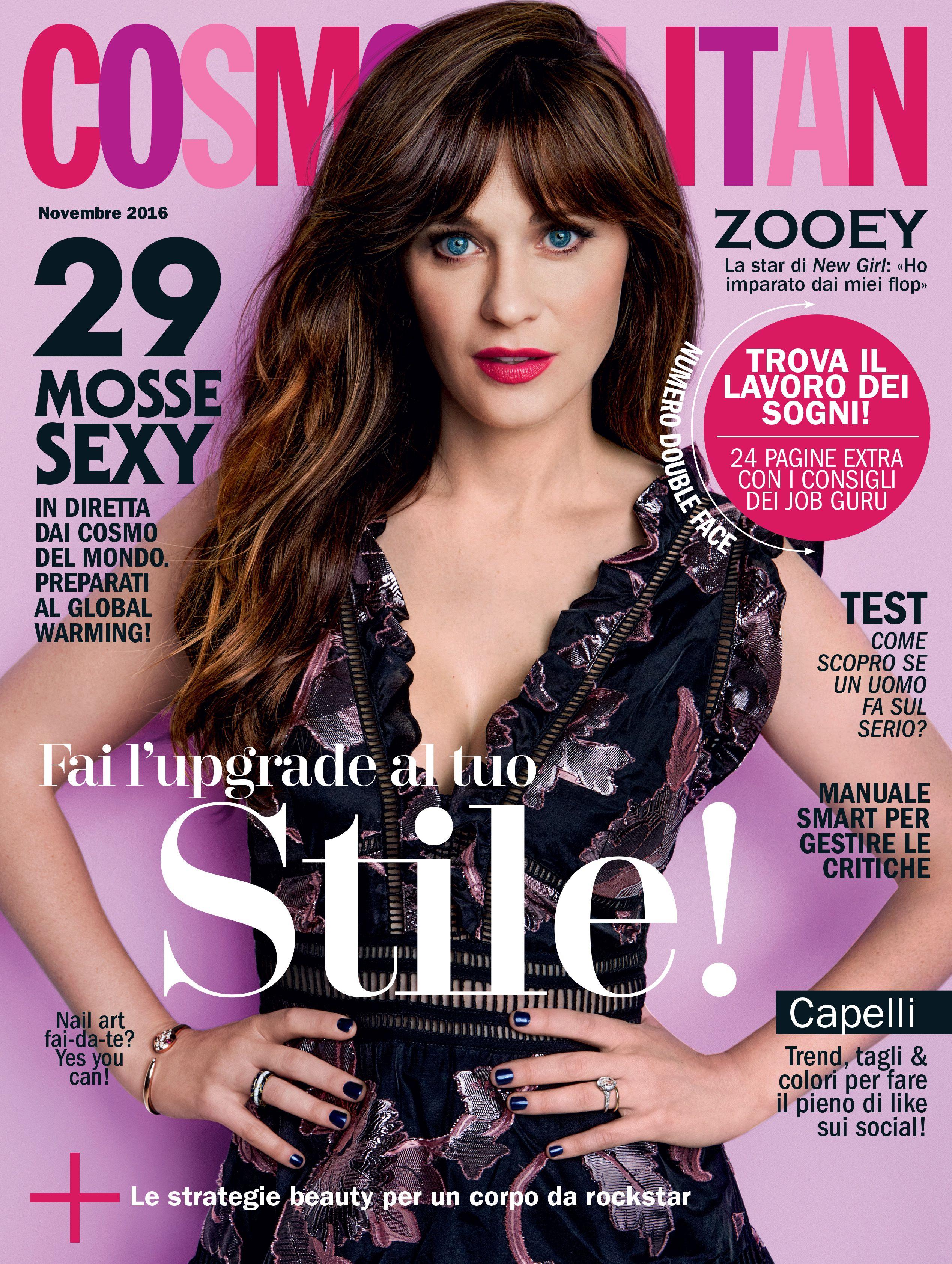 La cover star del numero di novembre 2016 di cosmopolitan zooey la cover star del numero di novembre 2016 di cosmopolitan zooey deschanel saremo fandeluxe Choice Image