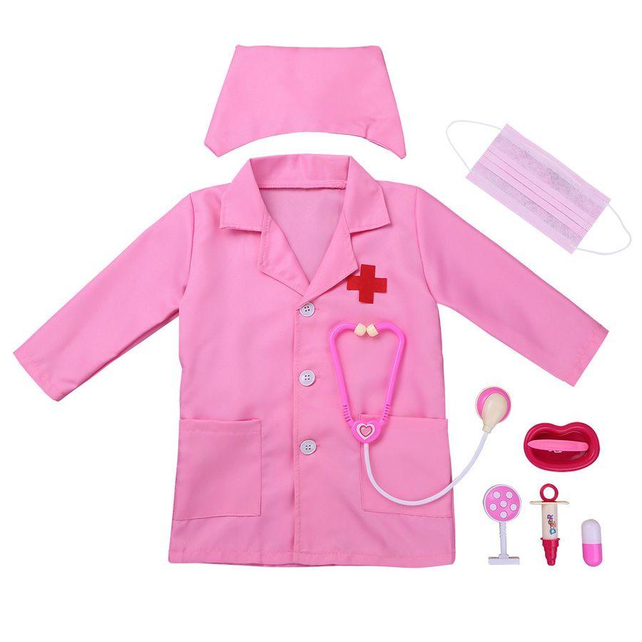 Doctor Doctor 5 Piece Unisex Scrub Suit Adult Costume