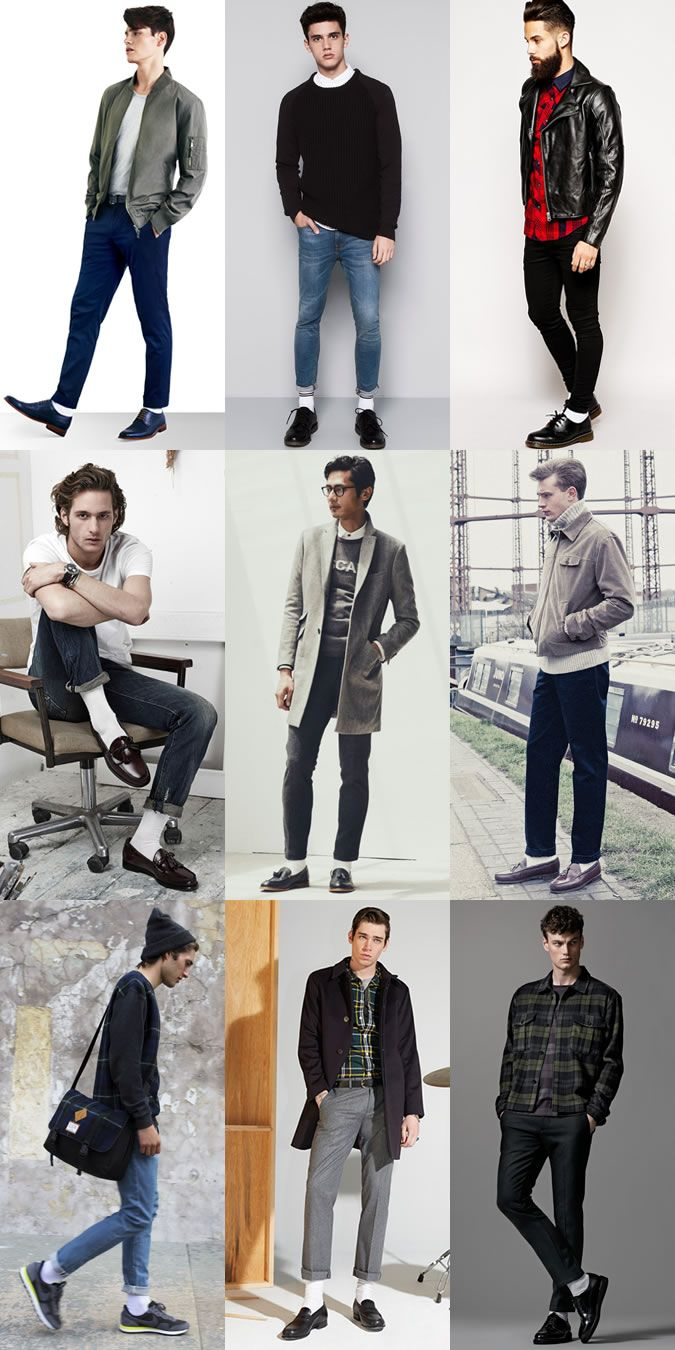 Men S White Socks Outfit Inspiration Lookbook My Style