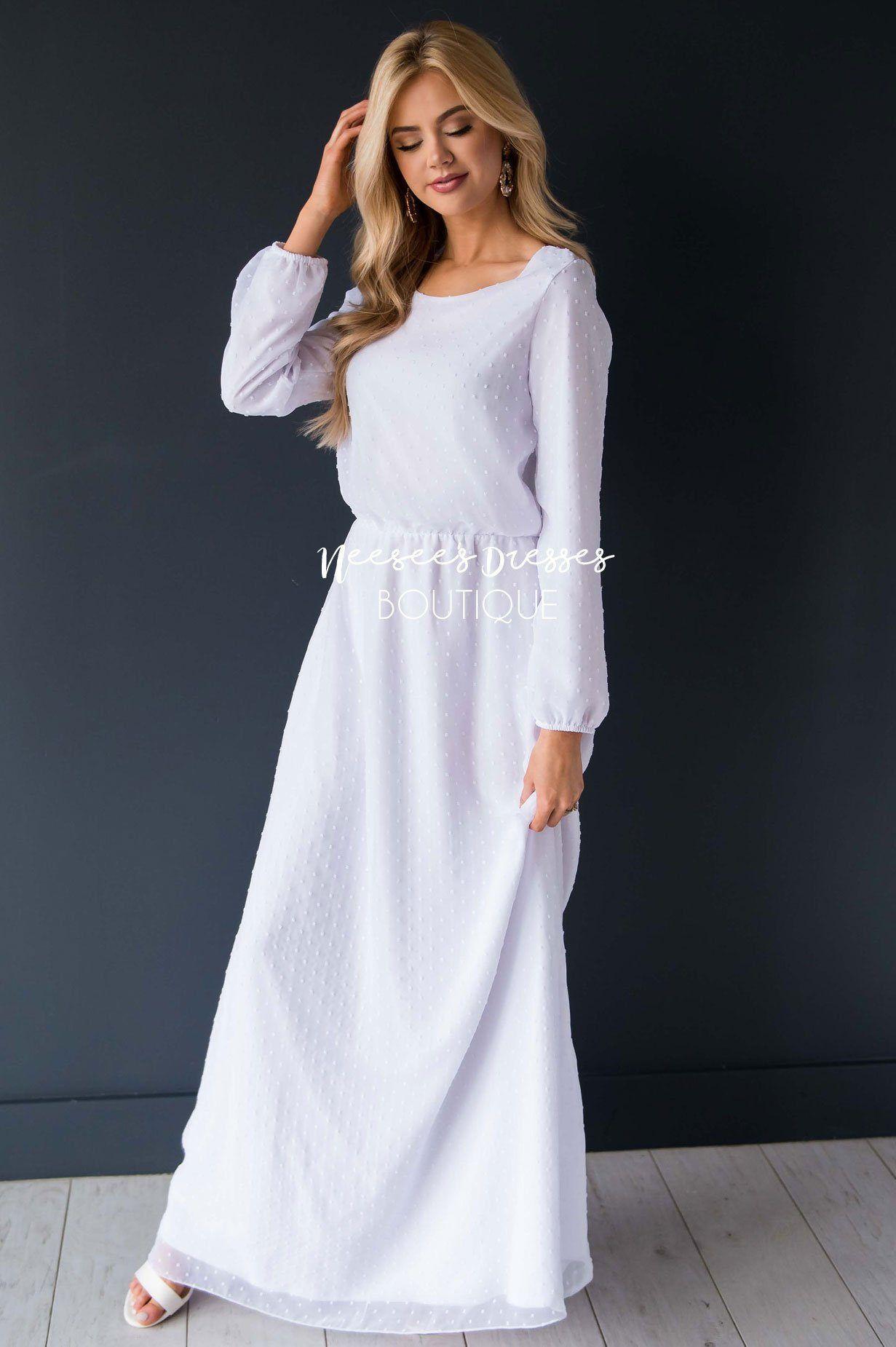 White Dotted Modest Temple Dress Beautiful White Temple Dresses Neesee S Dresses Modest Dresses Swiss Dot Dress Neesees Dresses [ 1850 x 1231 Pixel ]