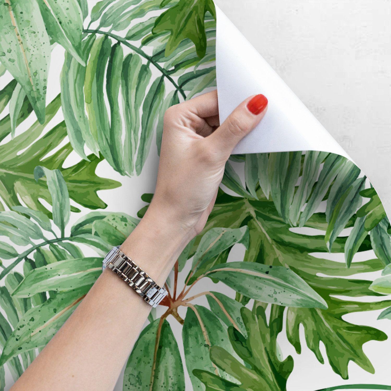 Light Banana Leaves Removable Wallpaper, Banana leaf