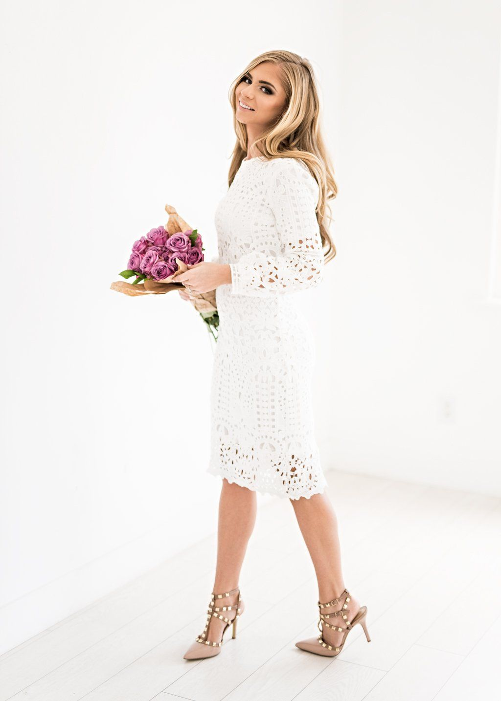 Lace dress for wedding  Julia Lace Shift Dress in White  dresses  Pinterest  Dresses