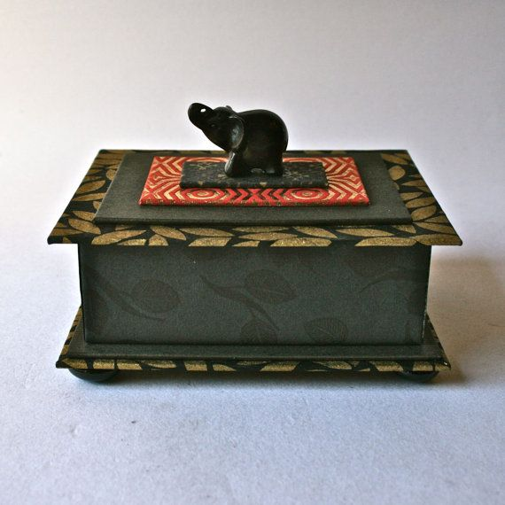 Handmade One of a Kind Box in Black and Red with by DebraGlanz, $72.00