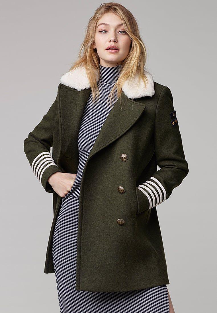 7fd180a78b5889 Tommy Hilfiger Mantel Khaki | Wollmantel Trends, Klassiker & Styling ...