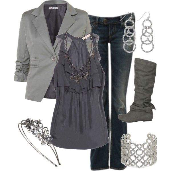"""""""Grey Work Outfit"""" by chelseawate on Polyvore"""