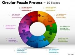 PowerPoint Designs Growth Circular Puzzle Ppt Backgrounds