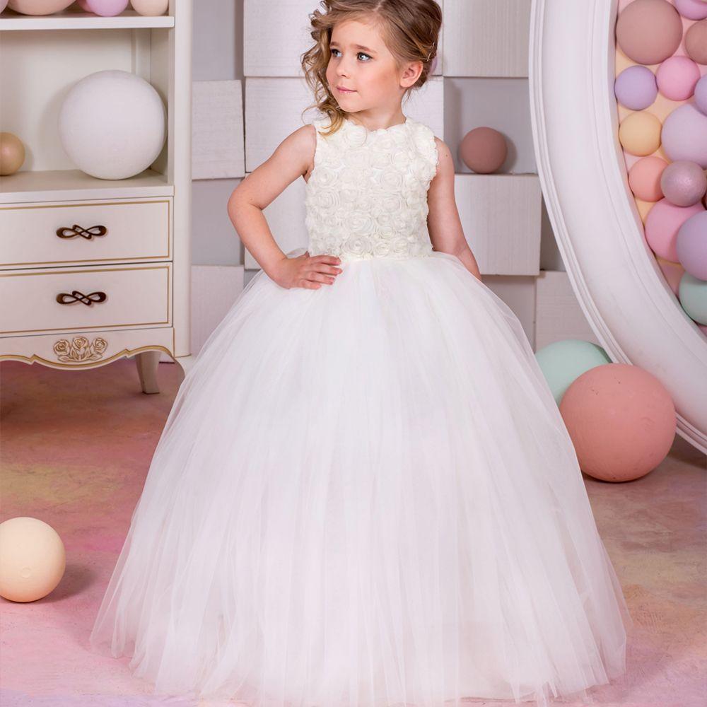 Click to buy ucuc fancy vestidos de communion sleeveless ruffles bow