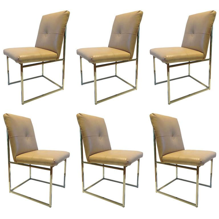 Wonderful 1stdibs | Set Of Six Milo Baughman Dining Chairs