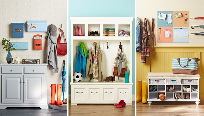 stop clutter where it starts.at the entry hall, back porch, mud