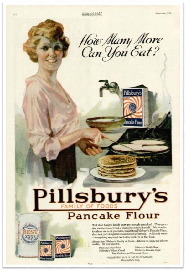 Pillsbury Home Journal Pancake flour ad September 1920