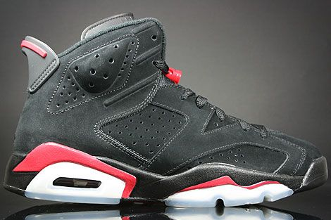 Mens Air Jordan 6 Retro Black Red shoes