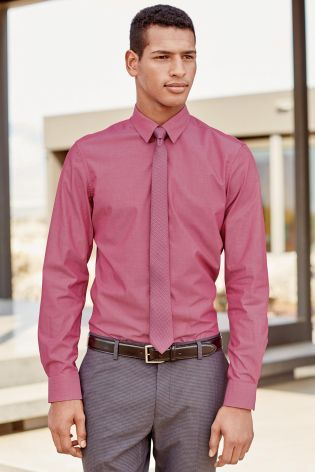 Buy Dark Pink Tonic Shirt And Tie Set online today at Next: Rep ...