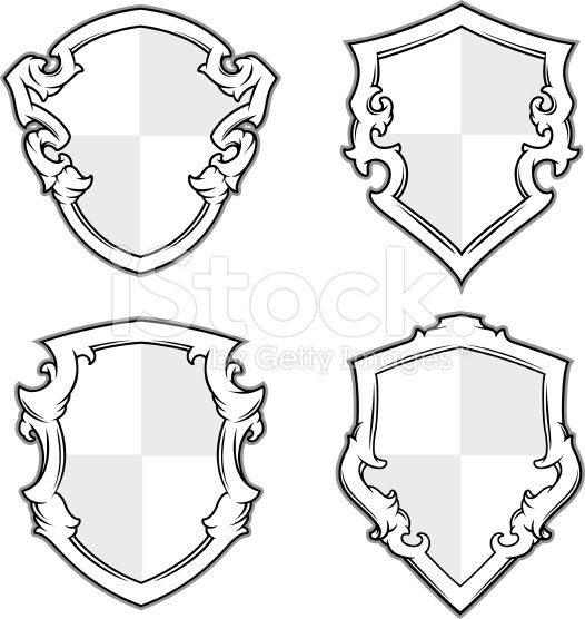 coat-of-arms-shield-designs-stock-illustration-13166326-ornate ...