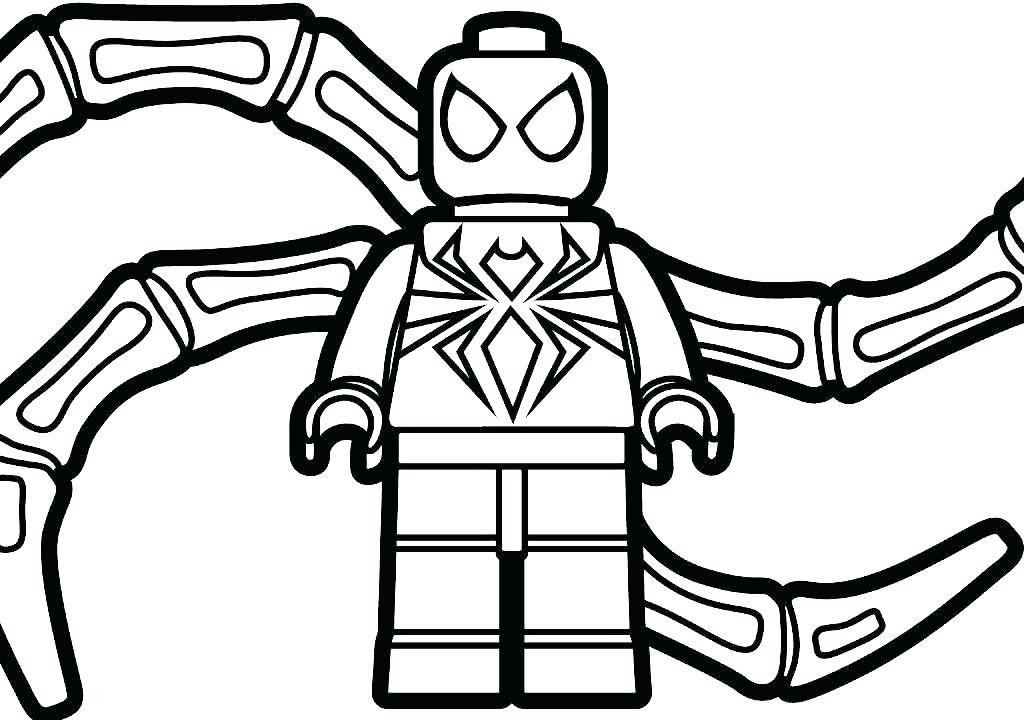 Coloring Lego Spiderman