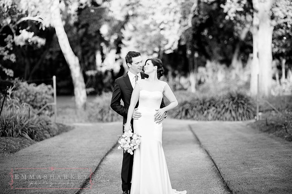 Black and white wedding image botanic gardens wedding wedding inspiration wedding photography emma sharkey adelaide