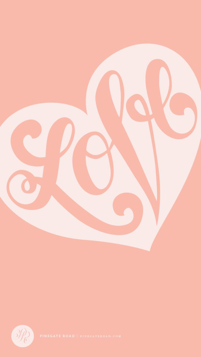 Getting Into Vectorizing My Lettering Lately And Thought You All Might Enjoy This Valentines Day Desktop IPhone Wallpaper I Made For Blog Xoxo