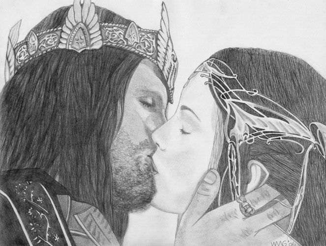 Arwen and Aragorn by vardawendy on DeviantArt | proyectos grafito en ...