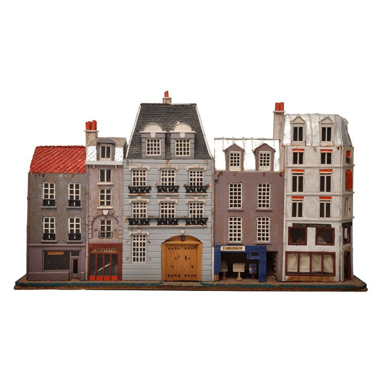 miniature paris street of houses and