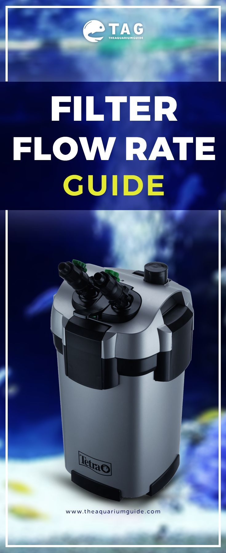 Filter flow rate guide with images aquarium filter