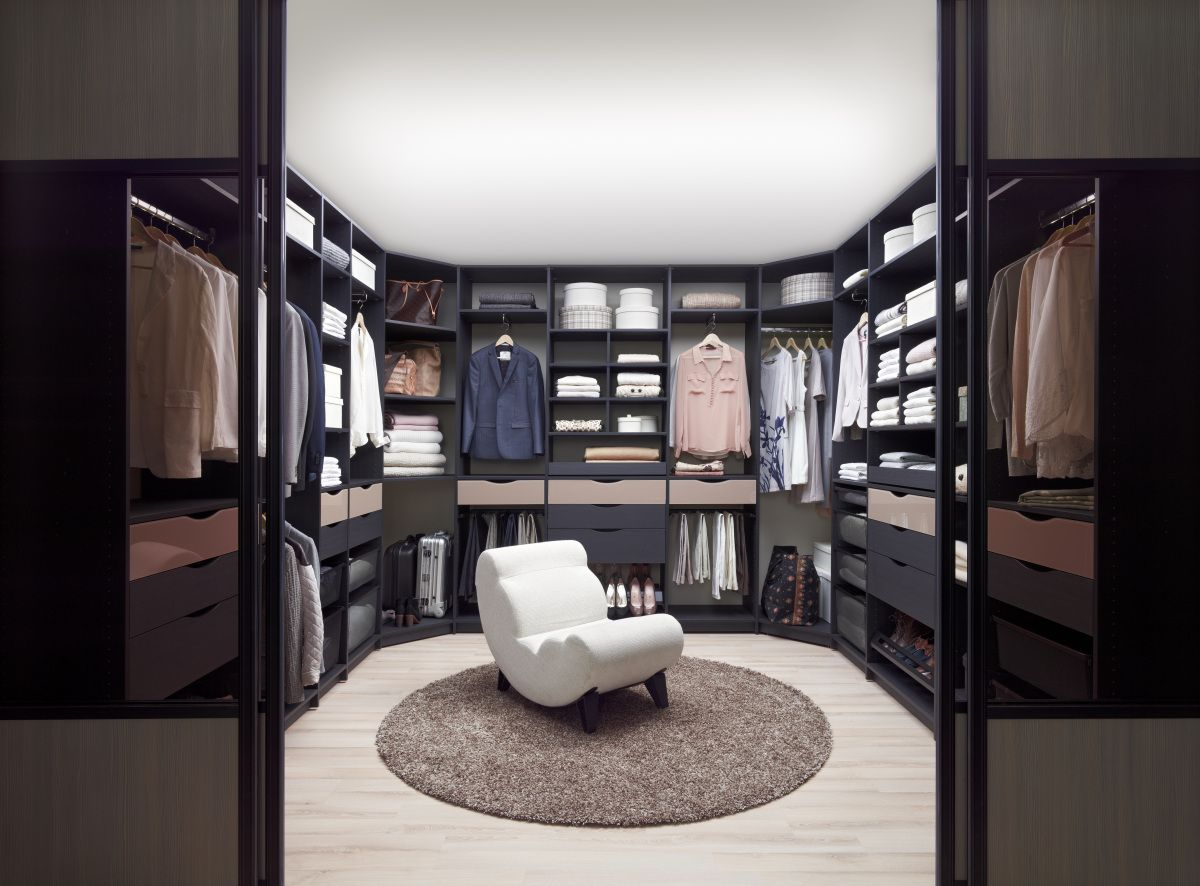 LUMI walk in closet Not the closet, but the theme of white walls and black/brown furniture - quite sophisticated for when he gets a bit older