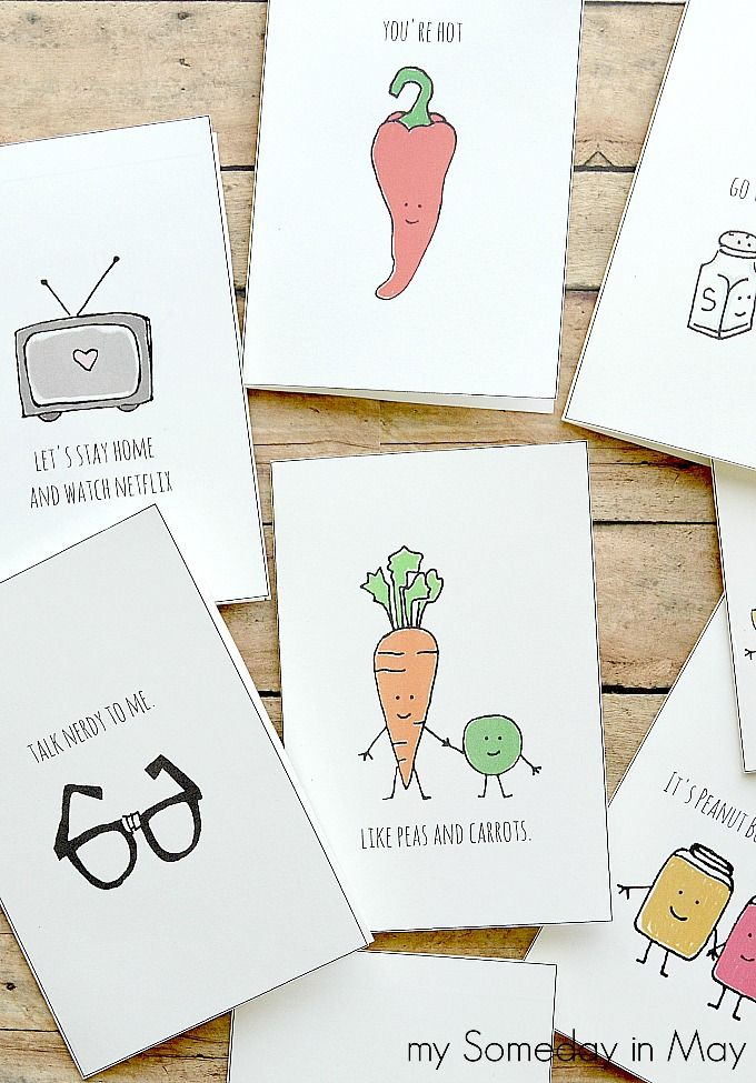 quirky love cards  diy valentines cards printable