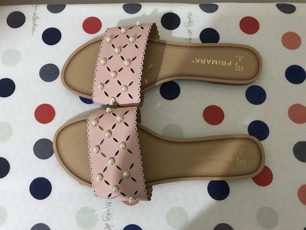 28395b498 New Primark Ladies Pearl Flat Sliders Beach Shoes Womens Flip Flops Sandals