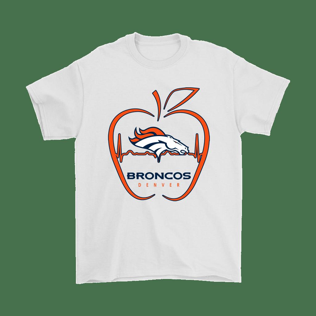 Apple Heartbeat Teacher Symbol Denver Broncos Shirts in