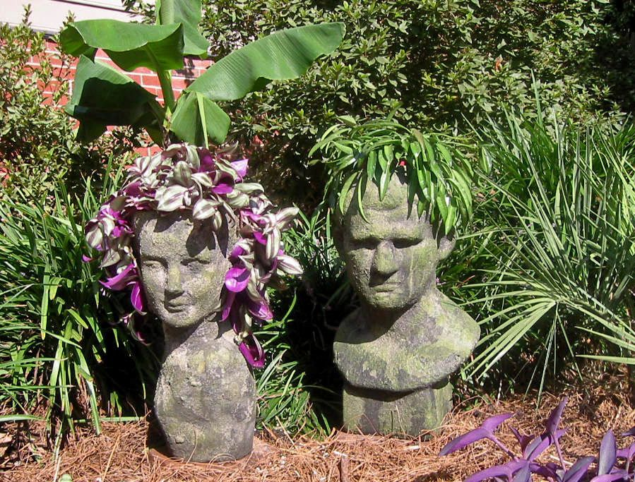 Container Gardening With KatG Cubit: Head Planters Forum: Share Your Head