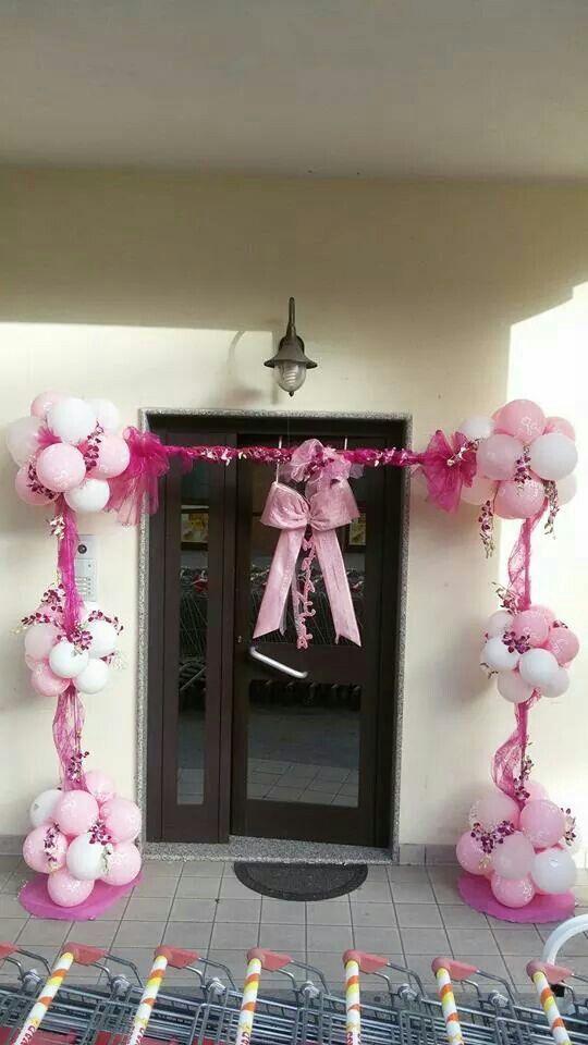 Balloon arch Could use balloons, tulle and a coat rack to achieve - imagenes de decoracion con globos
