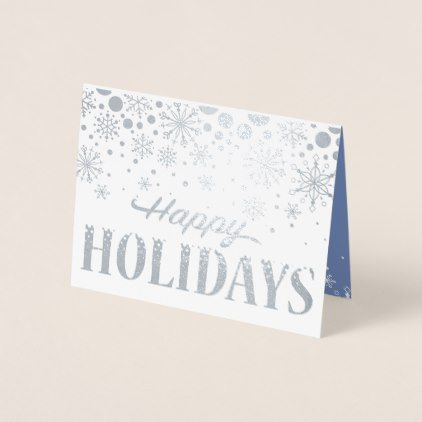 business holiday card of silver foil snowflakes holiday card diy