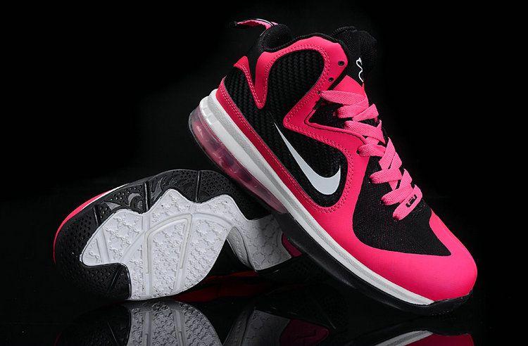 premium selection 0780e a3c08 Womens Basketball shoes Lebron 9 Laser Pink Metallic Silver Black