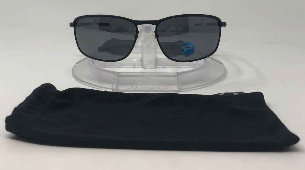 31e572581e3 Oakley Conductor 8 Sunglasses Matte Black w Grey Lens Polarized OO4107-02